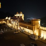 Amer fort at night with Jaipur