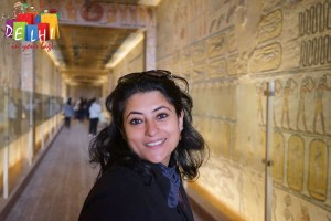 Ketaki at Tomb of Ramses IX