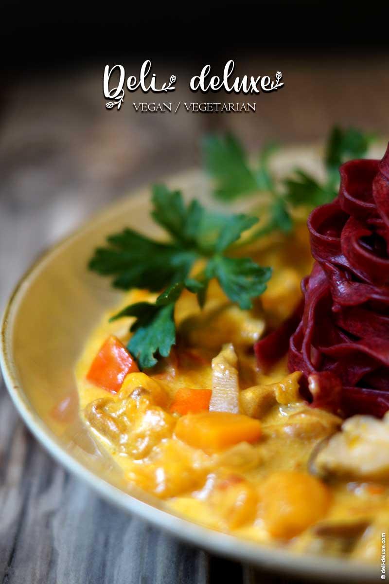 samtiges Kürbis-Pilz-Ragout zu Pasta & Co. 🥕