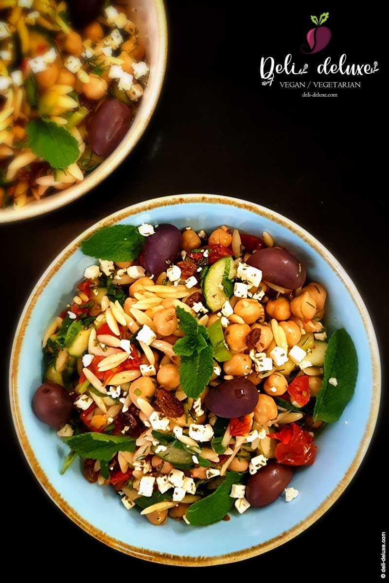 Kritharaki-Nudel-Salat mit Zitronen-Dressing 🥕