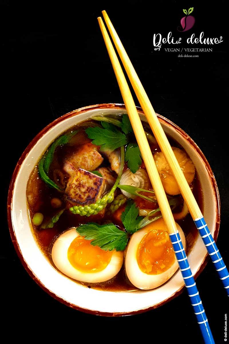 japanische Suppe mit veganem Dashi  🥕🥕