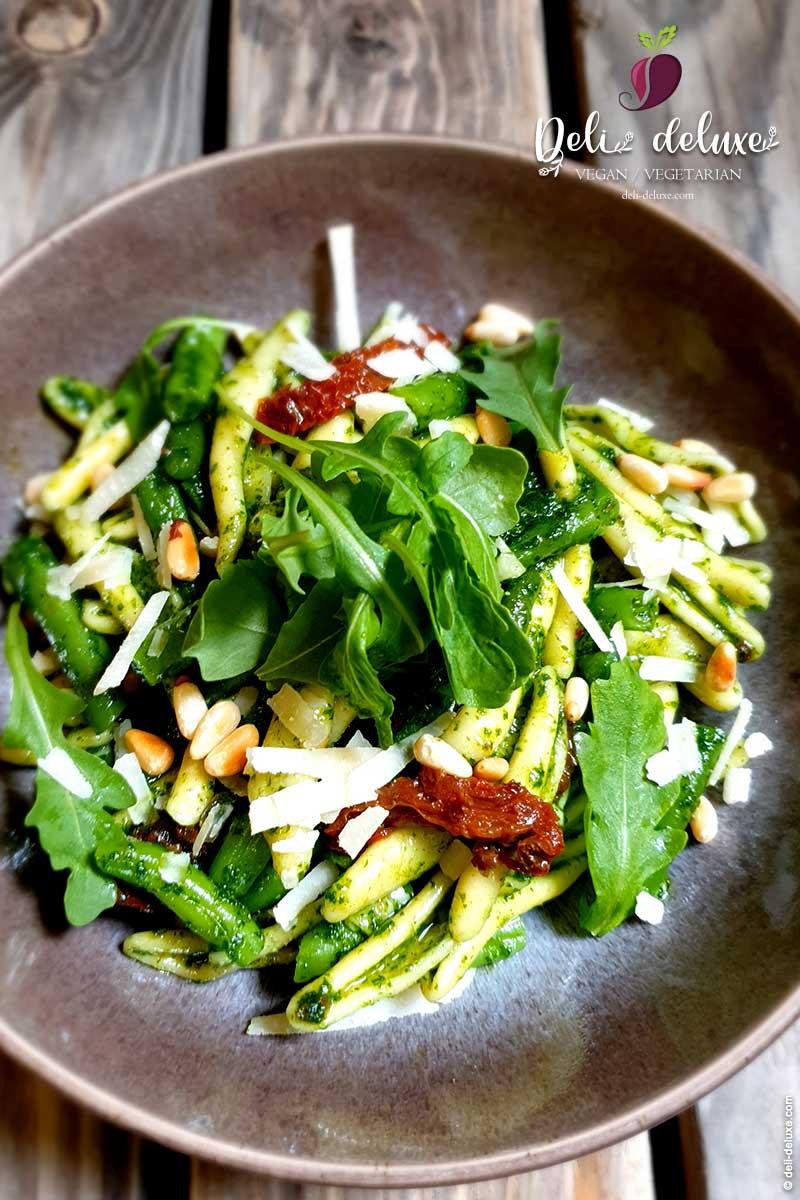 Casarecce al Pesto mit Rucola und Bohnen 🥕