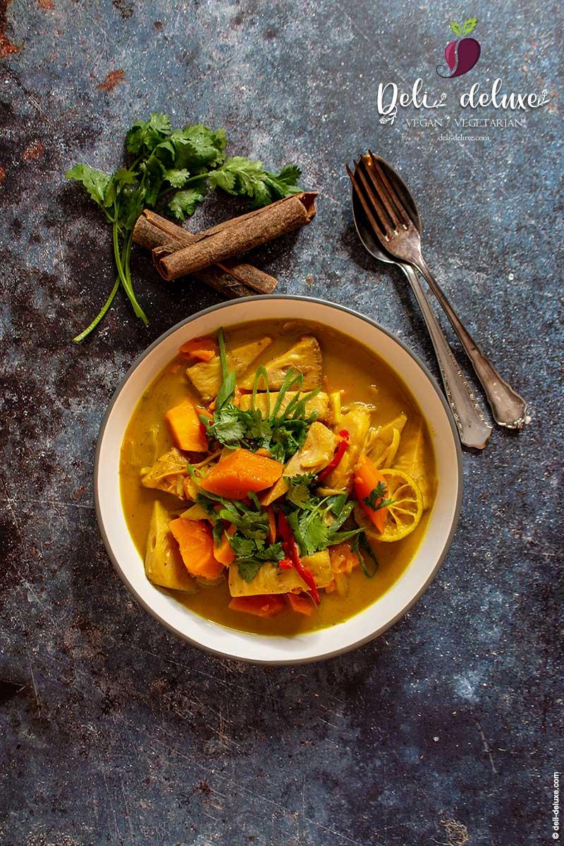 Jackfrucht Curry mit Süsskartoffeln 🥕🥕