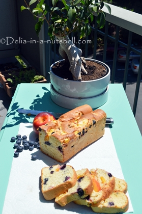 Blueberry and peach Pound cake-easy to make and deliciously soft
