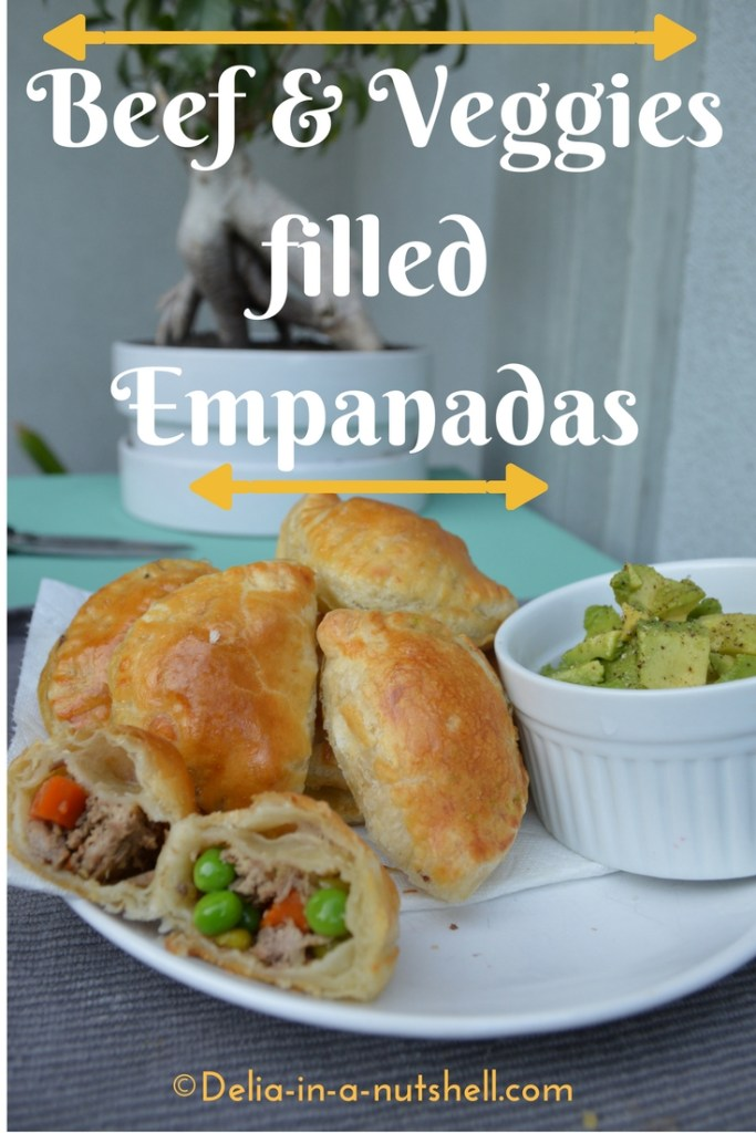 Beef and veggies filled Empanadas