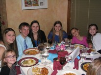 """The """"kids table"""" at the DRI dinner. Delia DeRiggi-Whitton began raising money for the DRI when her daughter was diagnosed with diabetes. This year's dinner brought tthe total she has helped raise to $700,000."""