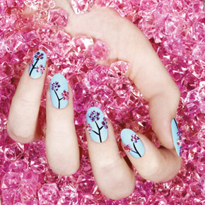 Sephora by OPI Cherry Blossom Nail Design (3/4)