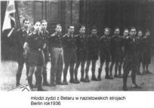 Židovský duch, židovský duševní charakter, je te¬dy účelná, přirozená a zcela pochopitelná reakce na antisemitismus. (Betar, Berlín 1936)