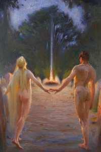 Ludwig Fahrenkrog - Das heilige Feuer, 1921