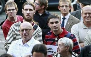 Happening na podporu úřadníka ministerstva školství Ladislava Bátorui