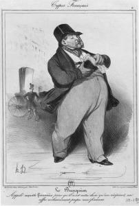 """Honoré Daumier (1808 –1879), litografie, """"Bankéř"""""""