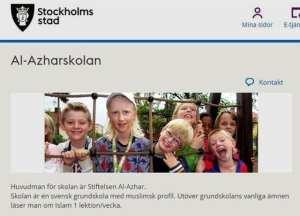 Švédská základní škola s muslimským profilem. Nádavkem k tradičním předmětům se žáci učí jednou týdně o islámu.