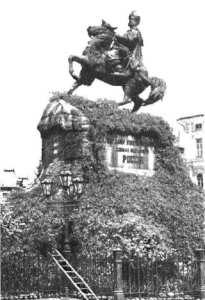 Chmelnického pomník v Kyjevě.