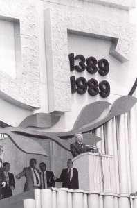 Slobodan Milošević, Gazimestan 1989