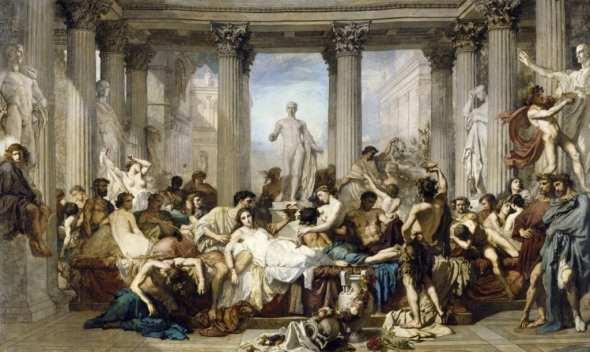 Thomas Couture - Římané v době úpadku (1847)