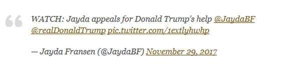 Jayda Fransen Trump