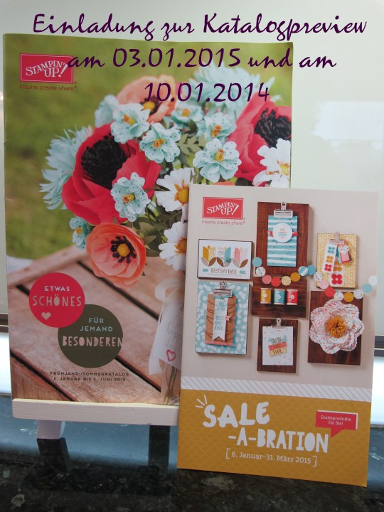 Einladung zur Katalogpreview am 03.01.2015 und am 10.01.2015