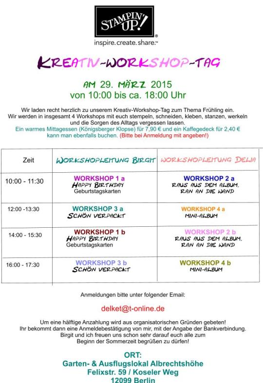 Kreativ-Workshop-Tag BLOG
