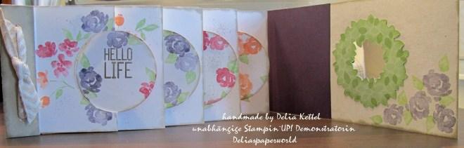 Mini-Album Circle Thinlits Painted Petals 2