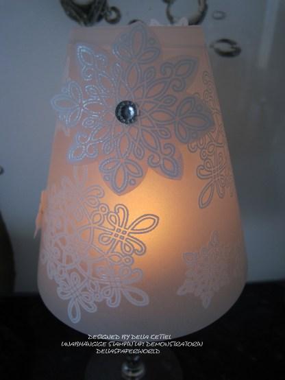 Lampenschirm für Weinglas a