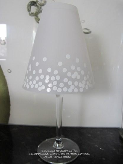 Lampenschirm für Weinglas c