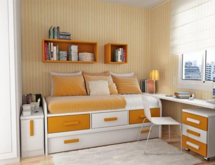 Storage space in bedroom