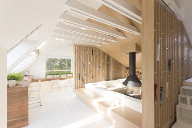Cozy Mansard Home by Ruetemple ruetemple.ru