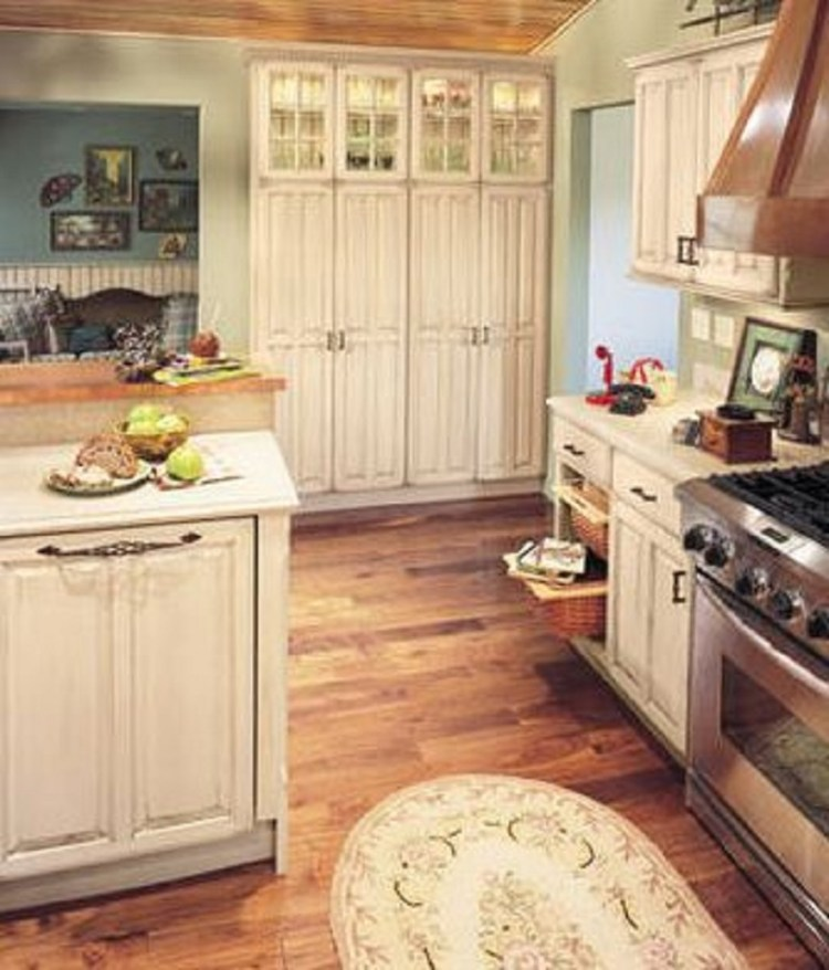 Rustic-Floored Country Kitchen