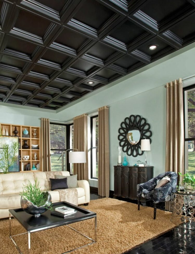 Black coffered texture