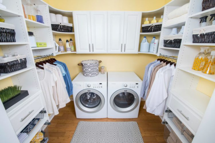 Remodel laundry room storage and organizers