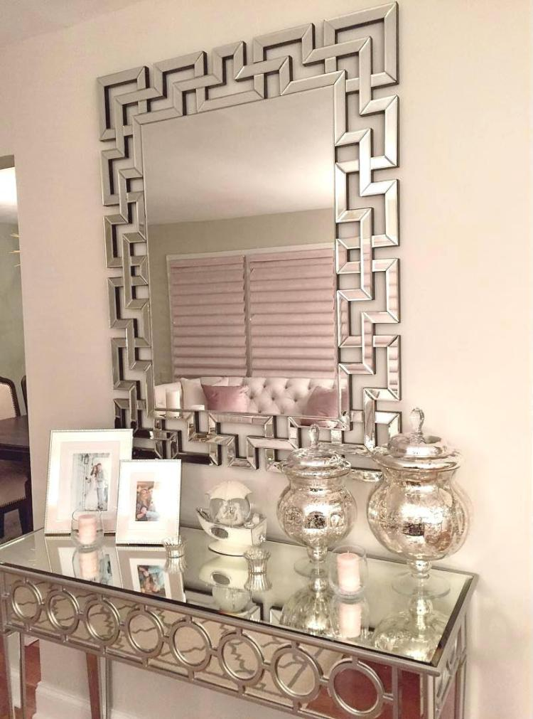 Mirrored Art Deco Table for the Entryway