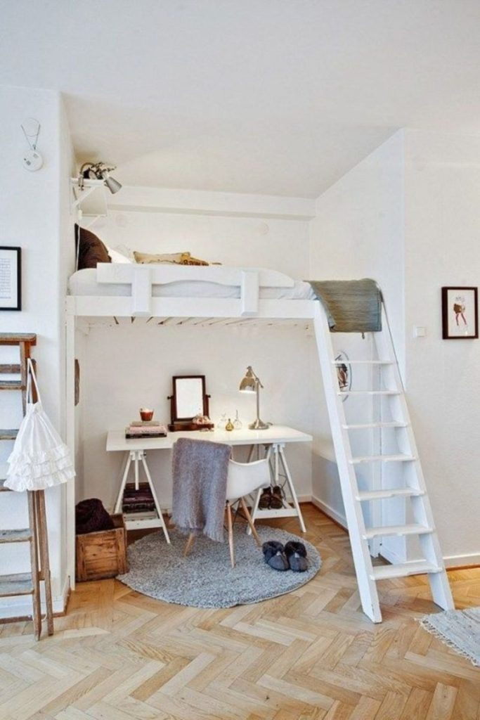 Loft Bed Compact Office