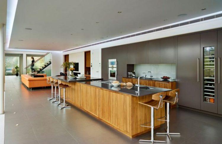 Elongated Kitchen