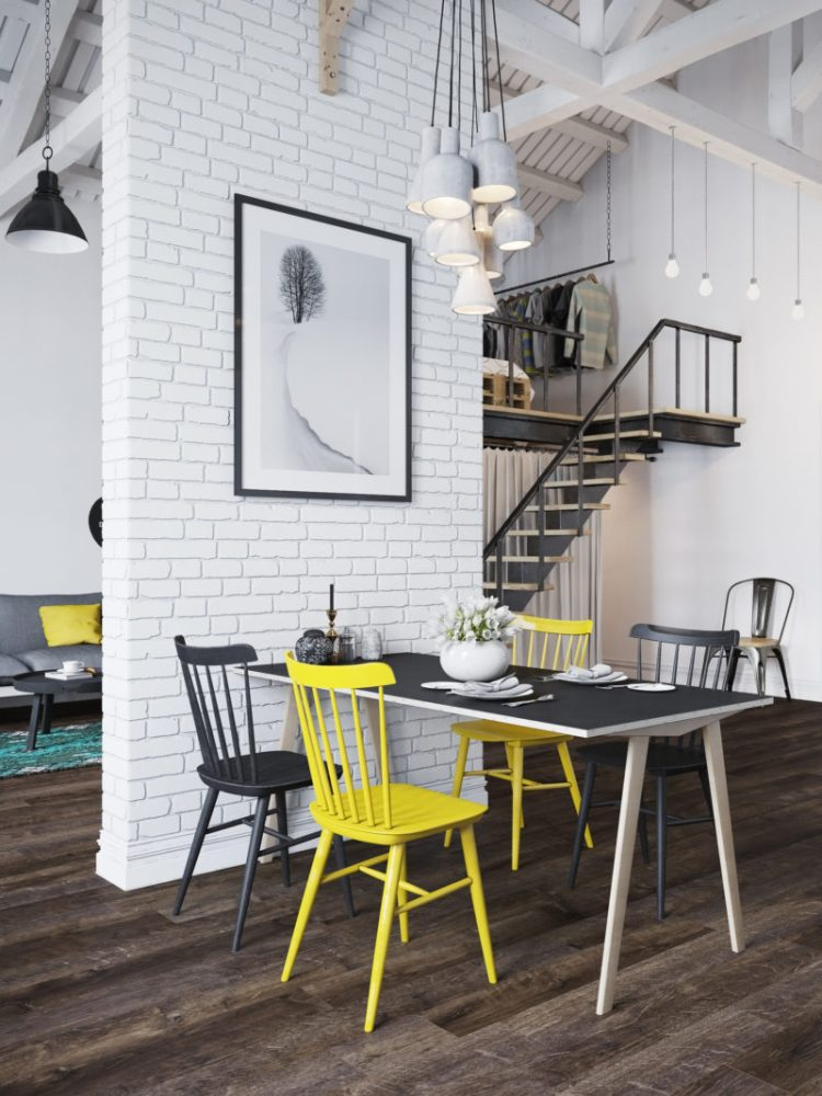 White Brick Loft Feature