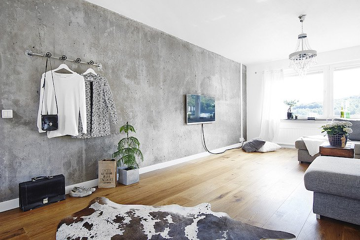 Concrete Accent Wall