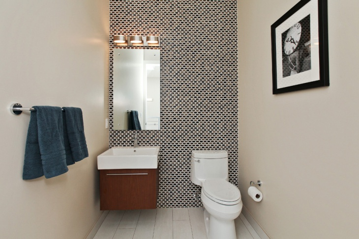 Half Bathroom Wall Pattern