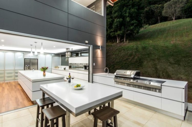 Go Modern Backyard Kitchen
