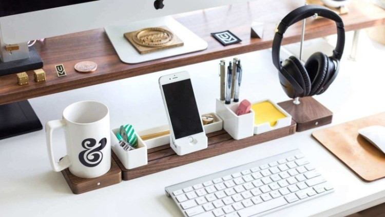 DIY Minimalist Wood Desk Organizer