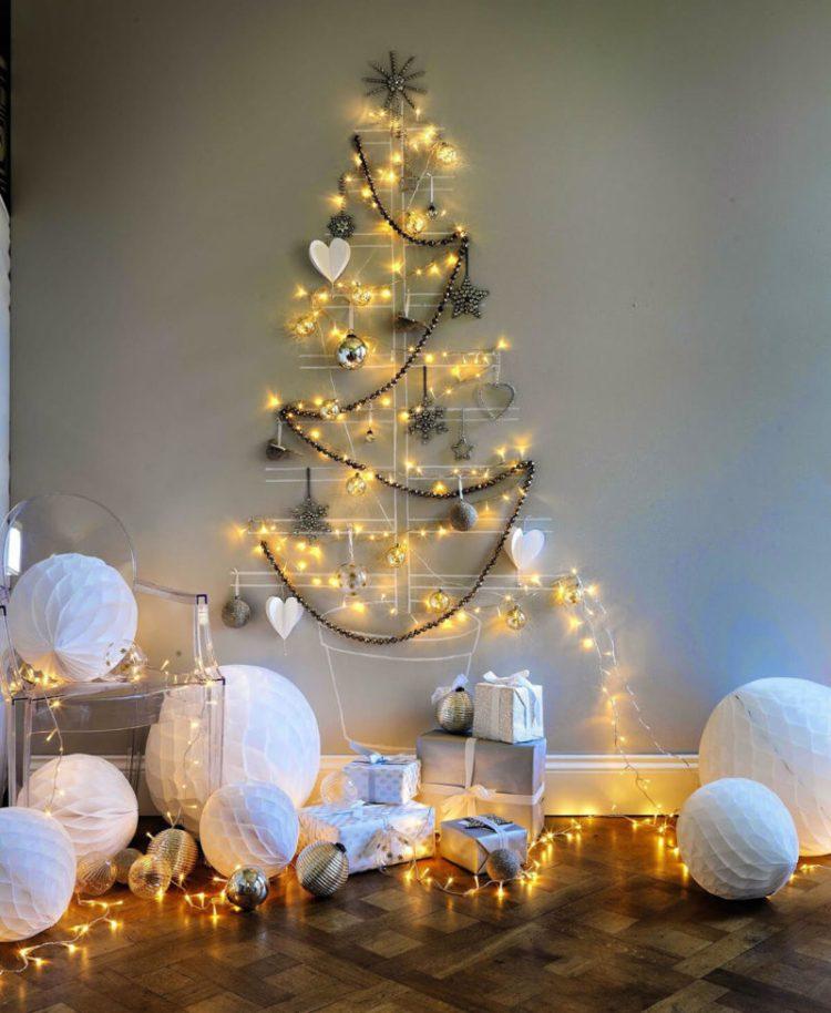Christmas Lights Tree Wall Hanging
