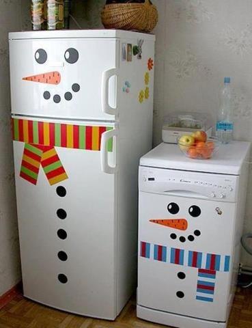 Make your fridge a snowman