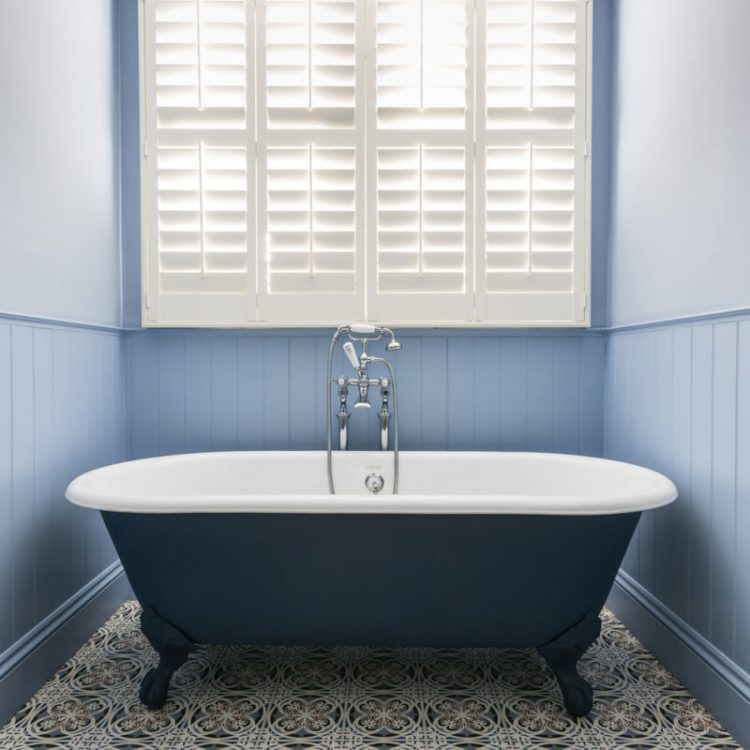 Budget bathroom remodel bathtub