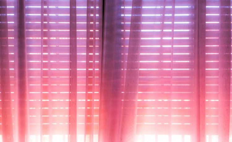Pink and purple ombre curtain