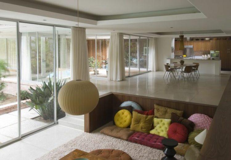 Small sunken living room designs