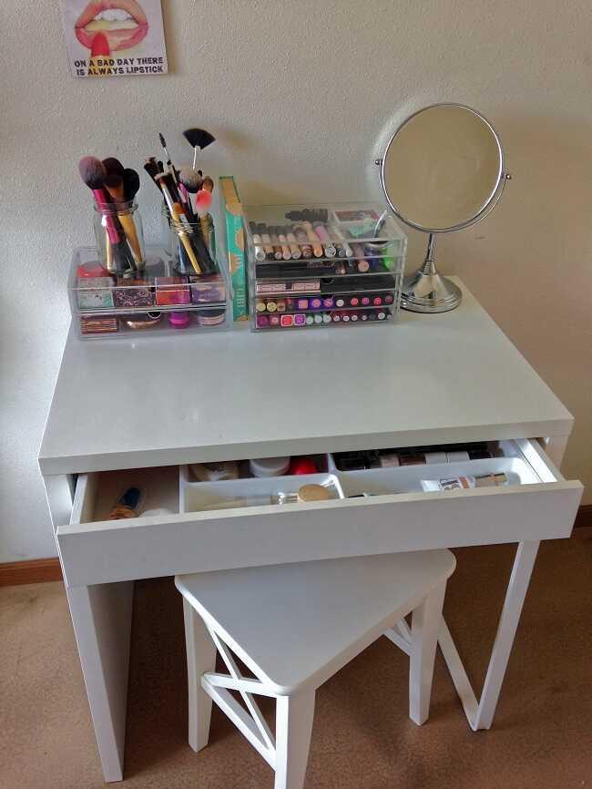 diy small makeup table ideas