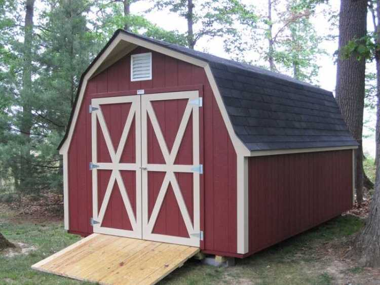 Barn gambrel roof shed