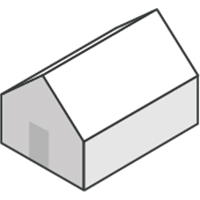 front gable roof