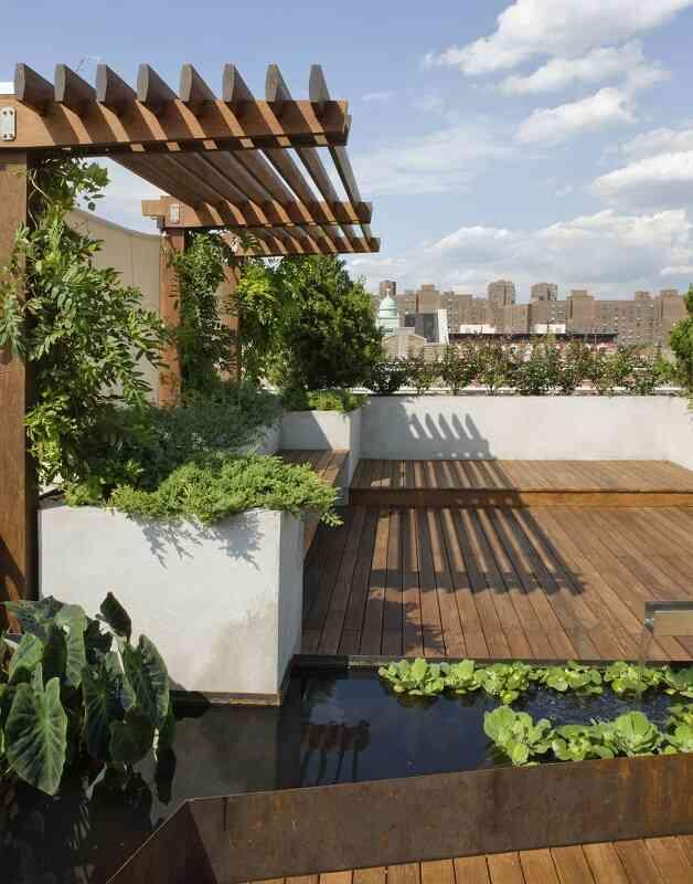 Garden rooftop pergola