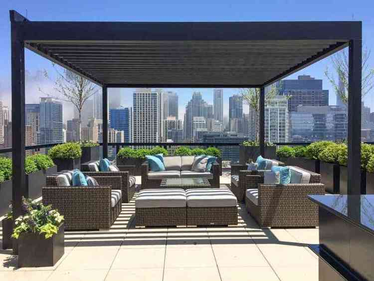 Rooftop pergola ideas