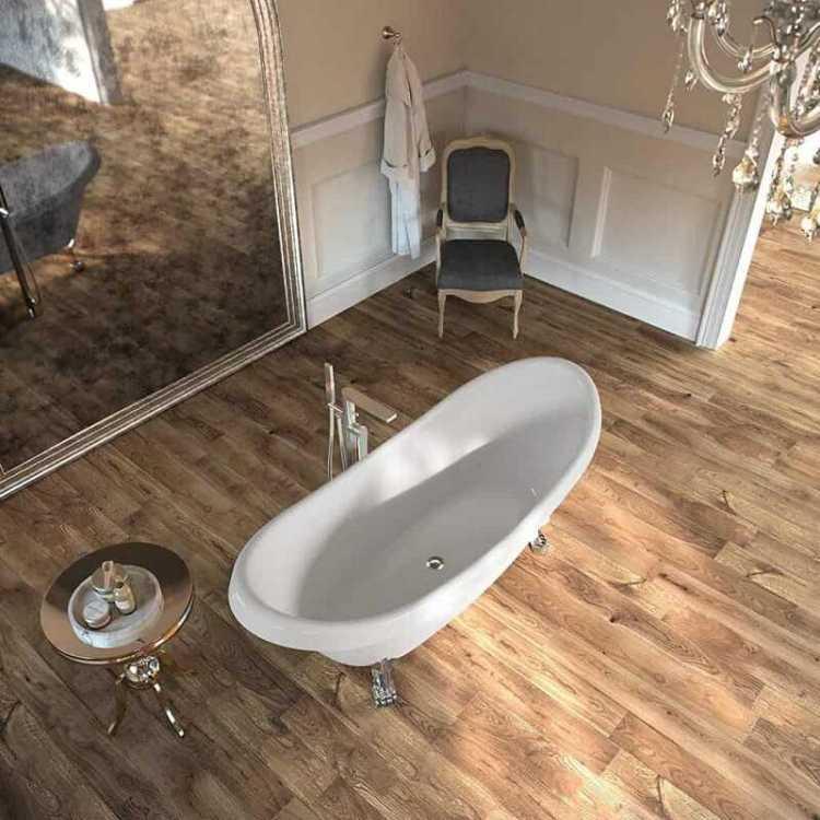 Bathroom floating floor