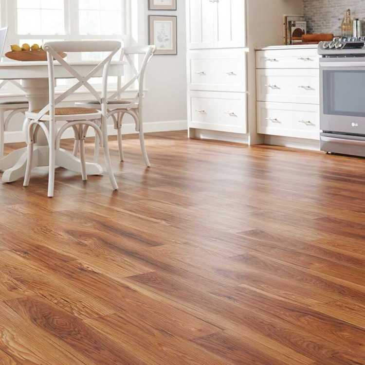 natural floor in the kitchen